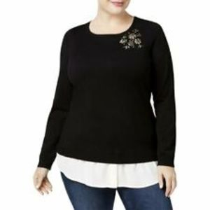 Charter Club Layered Party Pullover Sweater NWT 1X
